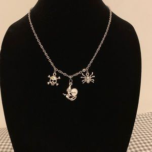 Skull, Witch, & Spider Necklace